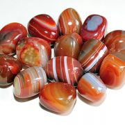 Highly polished Red Banded Agate tumble stone size 2-3 cm.