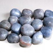 Highly polished Blue Calcite tumble stone size 2-3 cm.
