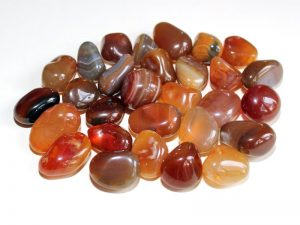 Highly polished Carnelian tumble stone size 2-3 cm.