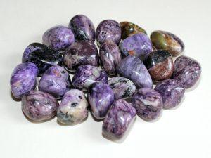 Highly polished Charoite tumble stone size 2-3 cm.
