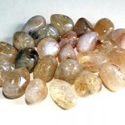 Highly polished Citrine tumble stone size 2-3 cm.