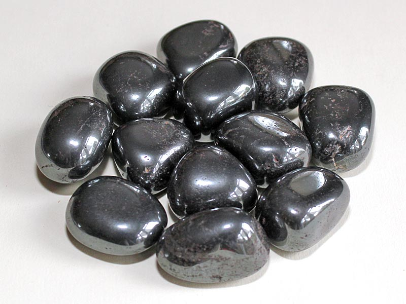 Highly polished Hematite tumble stone size 2-3 cm.