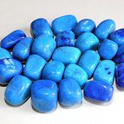 Highly polished Howlite Blue tumble stone size 2-3 cm.