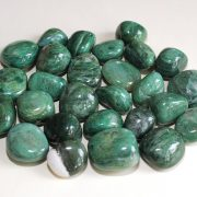 Highly polished African Jade tumble stone size 2-3 cm.