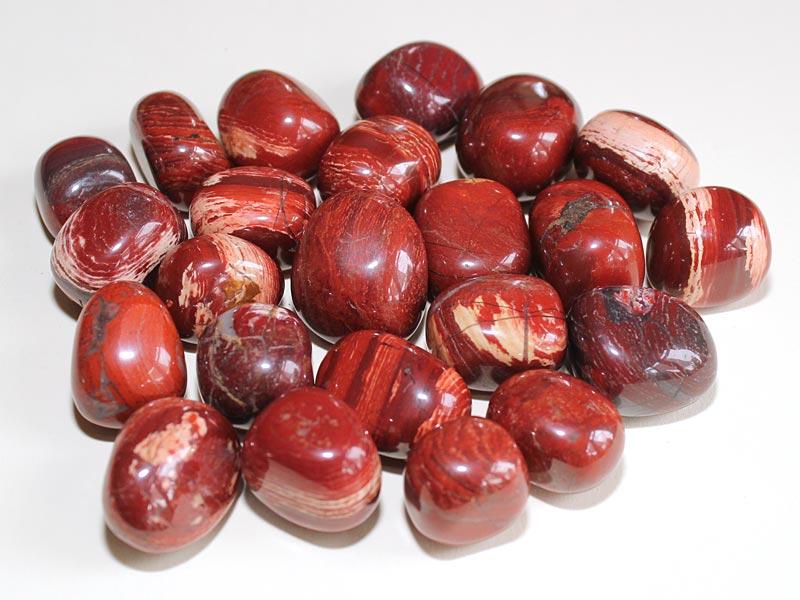 Highly polished Snakeskin Jasper tumble stone size 2-3 cm.