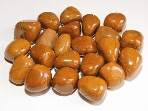 Highly polished Yellow Jasper tumble stone size 2-3 cm.