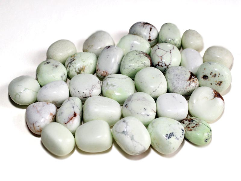 Highly polished Lemon Chrysoprase tumble stone size 2-3 cm.