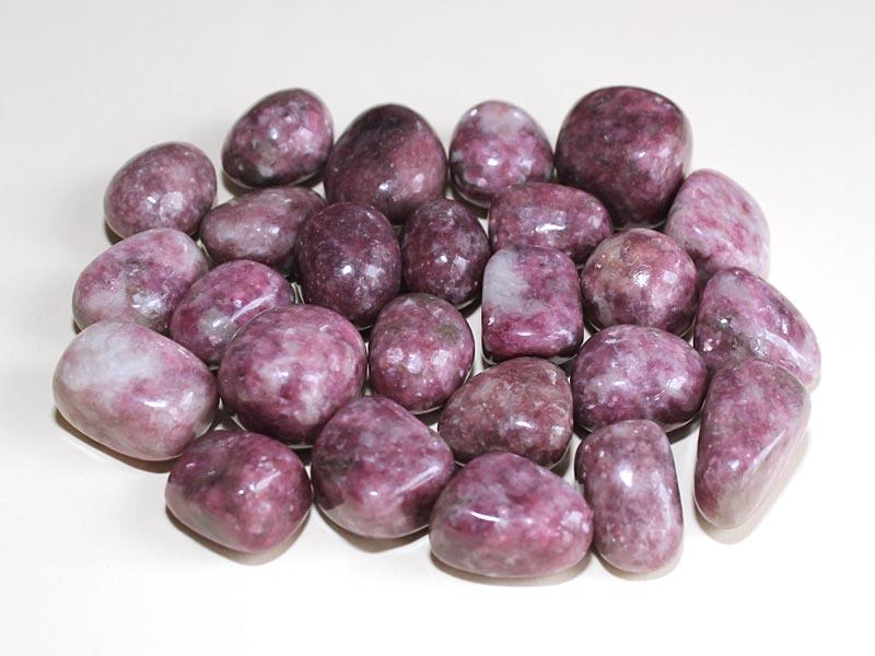 Highly polished Lepidolite tumble stone size 2-3 cm.