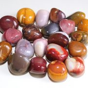 Highly polished Mookaite tumble stone size 2-3 cm.