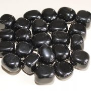 Highly polished Black Obsidian tumble stone size 2-3 cm.