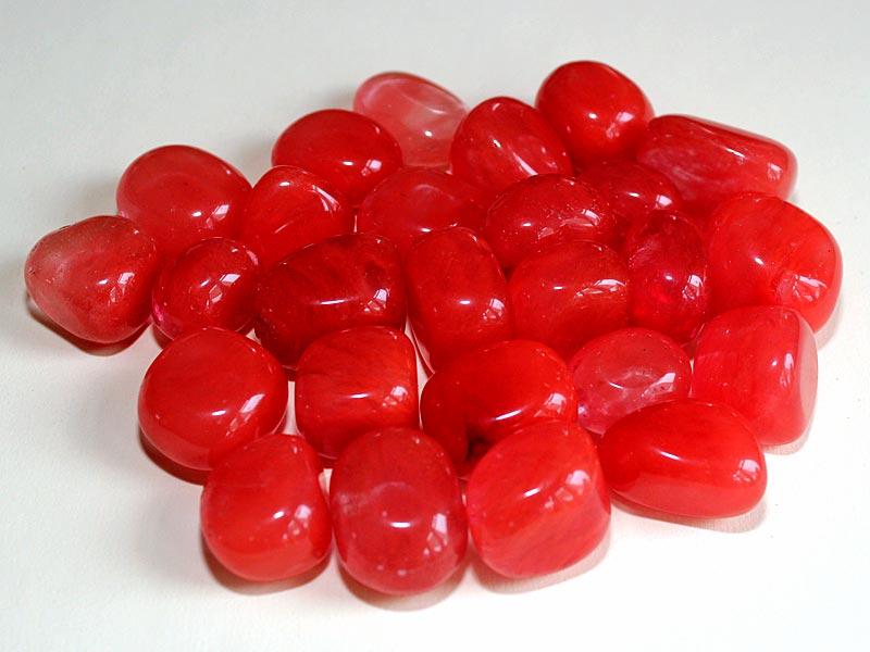 Highly polished Cherry Quartz tumble stone size 2-3 cm.