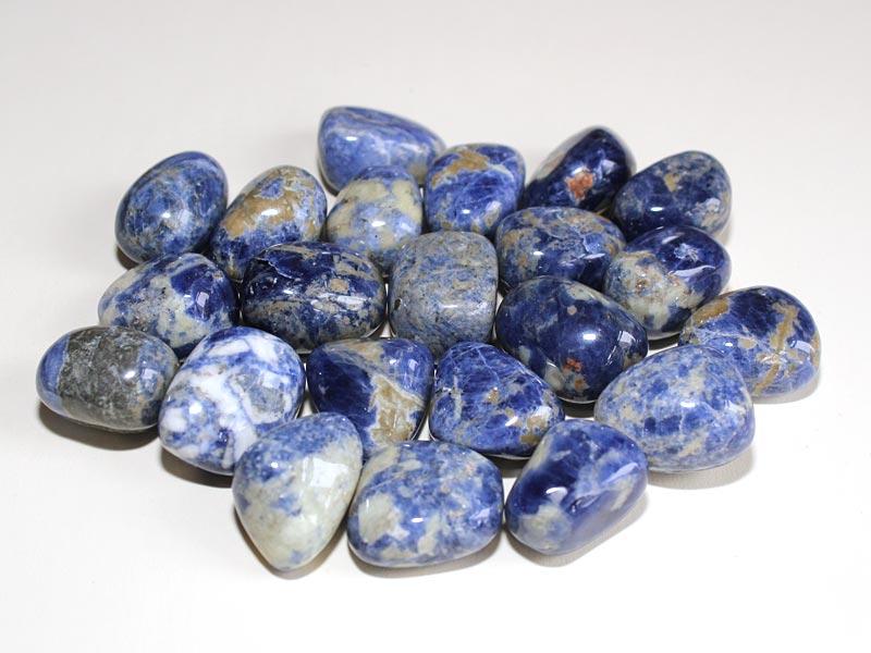 Highly polished Sodalite tumble stone size 2-3 cm.