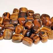 Highly polished Golden Tiger Eye tumble stone size 2-3 cm.