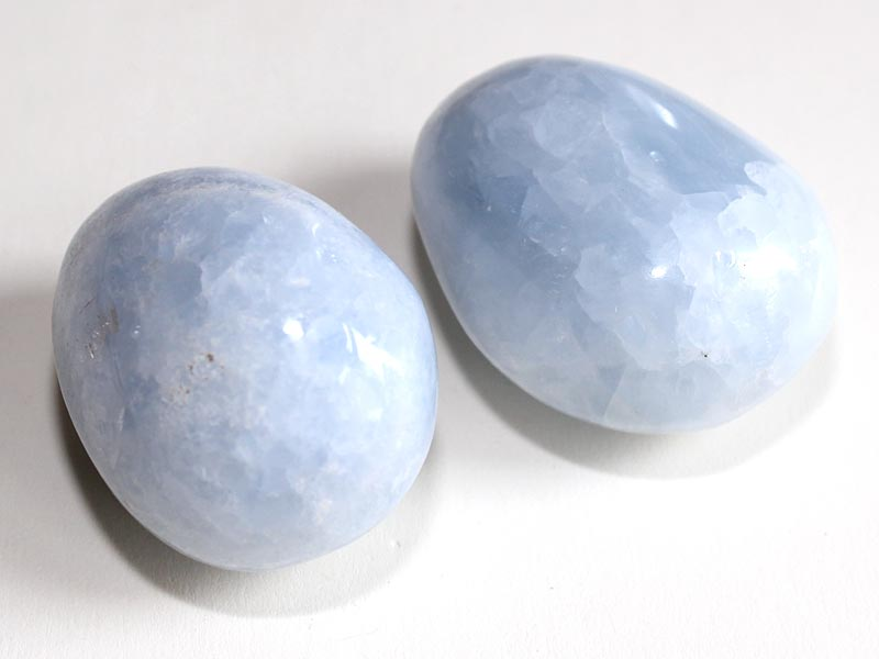 Highly polished Blue Calcite size 50 - 60 mm.