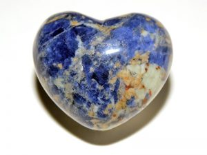 Highly polished Sodalite Heart 45 mm.