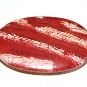 Highly polished Snakeskin Jasper palm stone 70 x 50 mm.