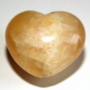 Highly polished Orange Calcite Heart approx 45 mm.