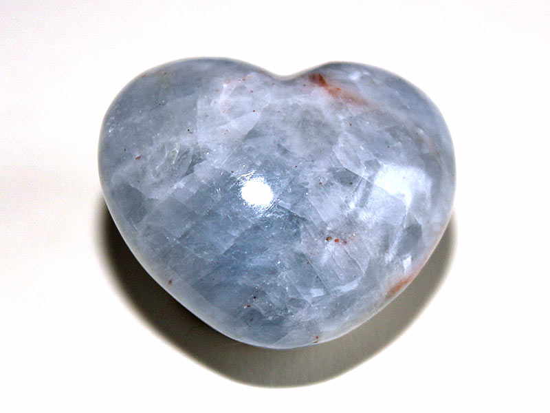 Highly polished Blue Calcite Heart approx 45 mm.