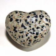 Highly polished Dalmatian Jasper Heart approx 45 mm.