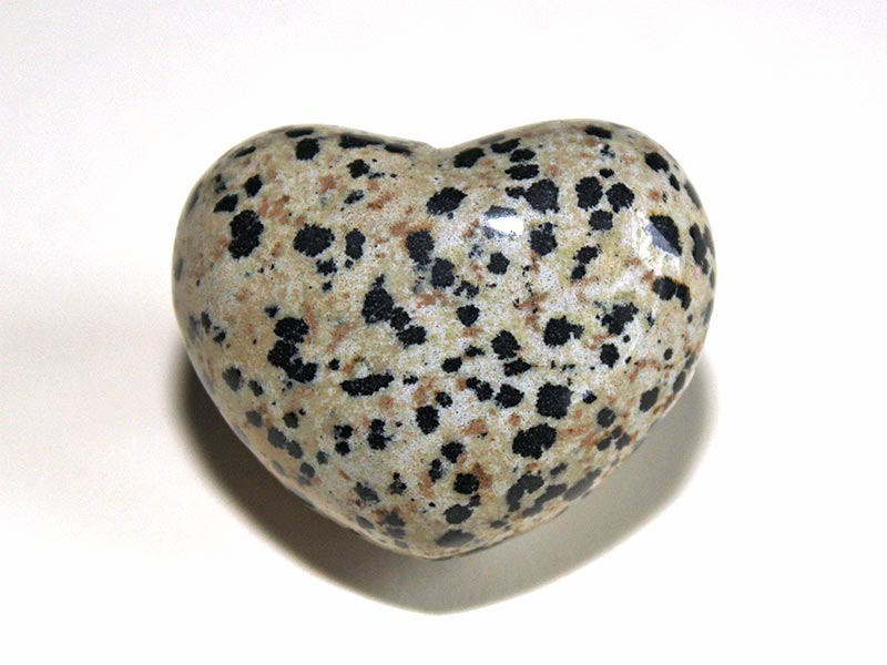 Highly polished Dalmatian Jasper Heart approx 45 mm.