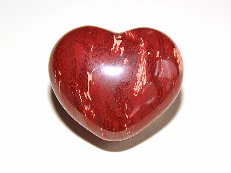 Highly polished Snakeskin Jasper Heart approx 45 mm.