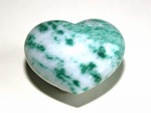 Highly polished Tree Jasper Heart approx 45 mm.