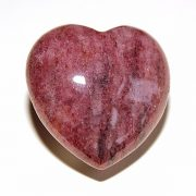 Highly polished Red Mica Heart approx 45 mm.