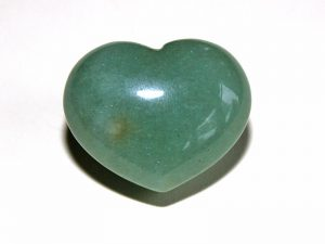Highly polished Aventurine Green heart approx 30 mm.