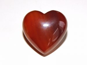 Highly polished Carnelian Heart approx 30 mm.