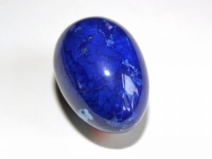 Highly polished Howlite Blue egg approx height 45 mm.