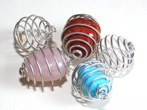 silver spiral for tumble stone