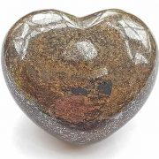 Highly polished Bronzite Heart approx 45 mm.