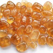 Highly polished Honey Calcite stone size 20-30 mm.