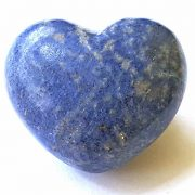Highly polished Dumortierite Heart approx 45 mm.