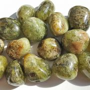 Highly polished Garnet Green stone size 20-30 mm.