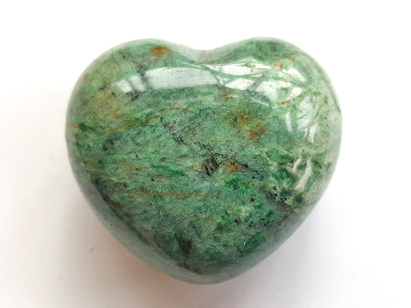 Highly polished African Jade Heart approx 45 mm.