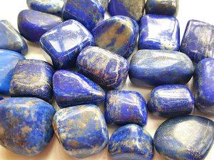 Highly polished Lapis Lazuli tumble stone size 20-30 mm.