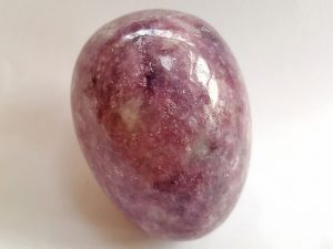 Highly polished Lepidoplite egg approx height 45 mm.