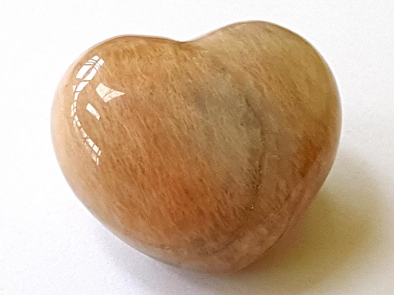 Highly polished Shaded Moonstone Heart approx 45 mm.