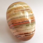 Highly polished Onyx egg approx height 45 mm.