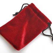 Pouch red velvet 100 x 70 mm