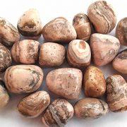 Highly polished Rhodochrosite tumble stone size 20-30 mm.