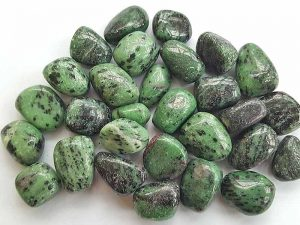 Highly polished Ruby Zoisite tumble stone size 20-30 mm.