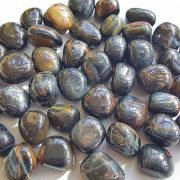 Highly polished Tiger Eye Blue tumble stone size 20-30 mm.