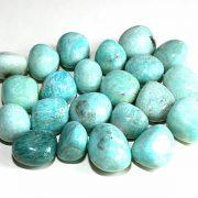 Highly polished Amazonite tumble stone size 2-3 cm.
