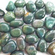 Highly polished Bloodstone stone size 20-30 mm.
