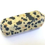 Highly polished Dalmatian Jasper wand approximate height 60 mm