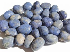 Highly polished Dumortierite tumble stone size 20-30 mm.