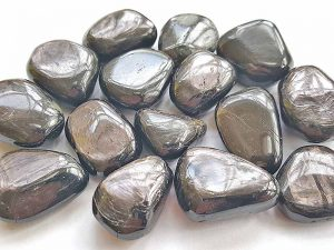 Highly polished Hypersthene tumble stone size 20-30 mm.