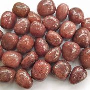 Highly polished Red Mica tumble stone size 20-30 mm.